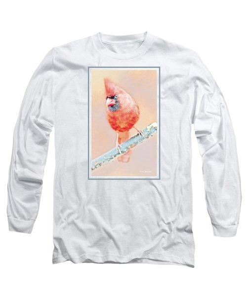 Long Sleeve T-Shirt featuring the photograph Cardinal Male by A Gurmankin
