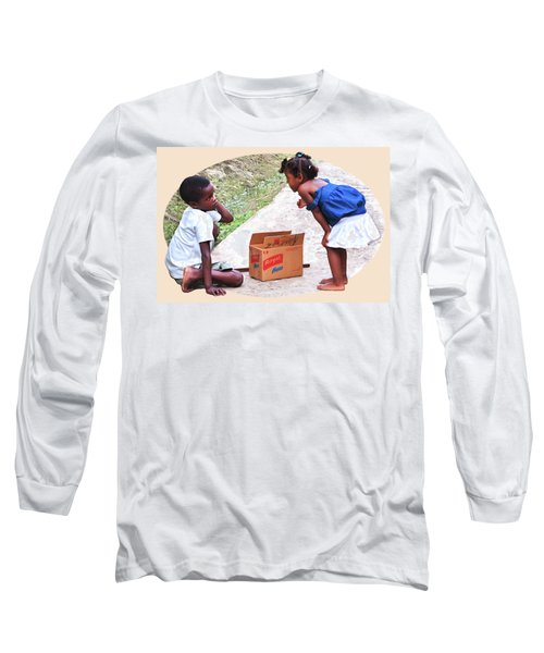 Caribbean Kids Illustration Long Sleeve T-Shirt