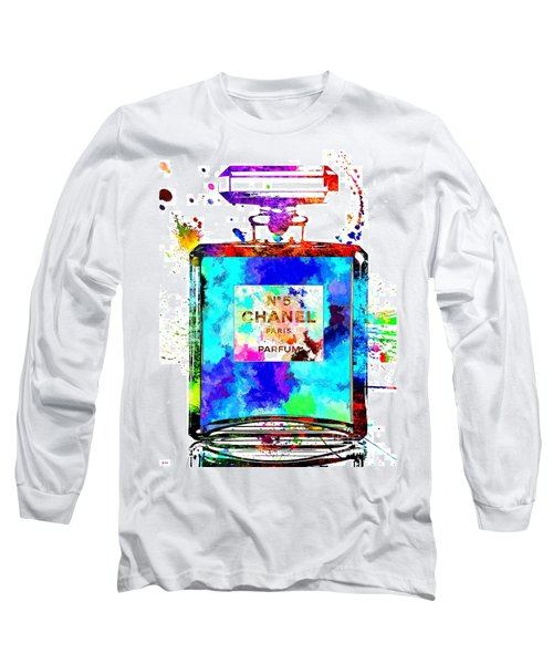 Chanel No. 5 Grunge Long Sleeve T-Shirt by Daniel Janda