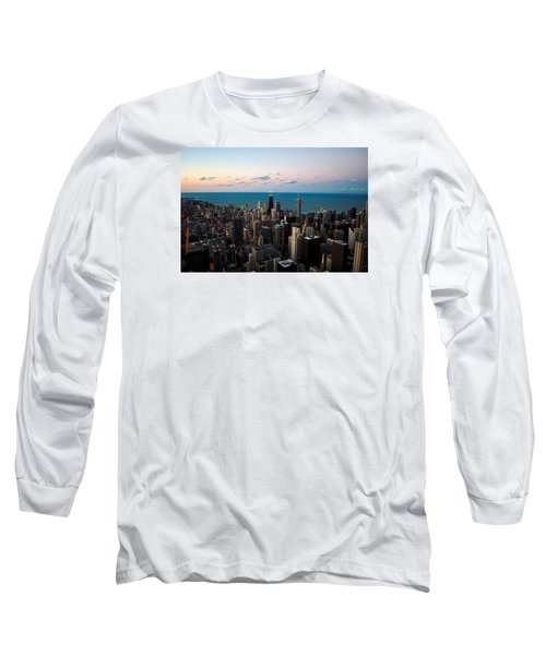 Long Sleeve T-Shirt featuring the photograph Chicago Skyline 2 by Richard Zentner