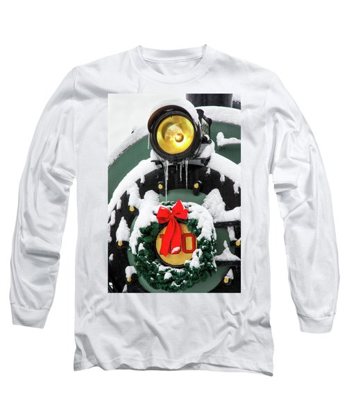 Christmas Train At Pacific Junction Long Sleeve T-Shirt