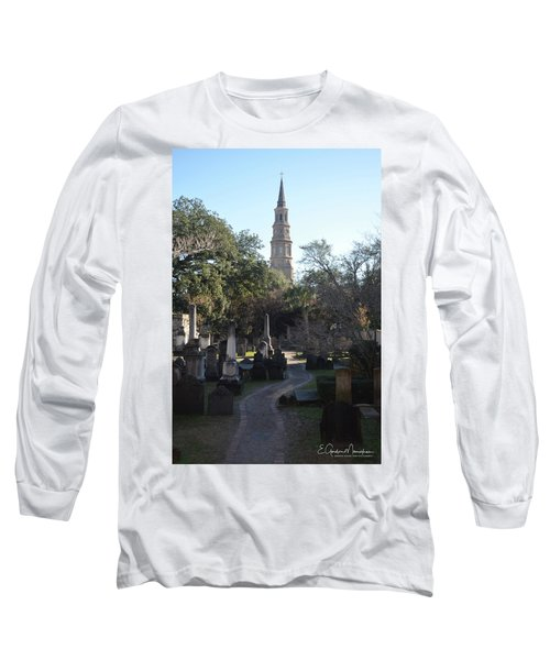 Circular Congregational Graveyard 3 Long Sleeve T-Shirt by Gordon Mooneyhan