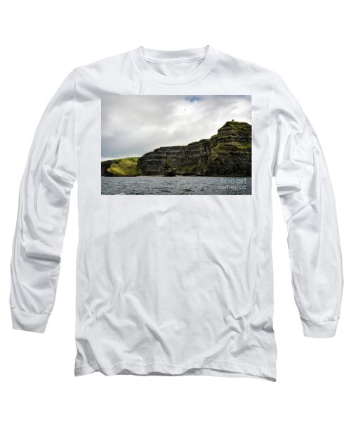 Long Sleeve T-Shirt featuring the photograph Cliffs Of Moher From The Sea by RicardMN Photography