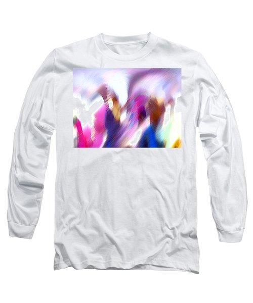 Color Dance Long Sleeve T-Shirt by Anil Nene
