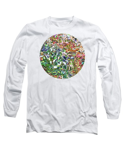 Colorful Shapes Pattern Long Sleeve T-Shirt