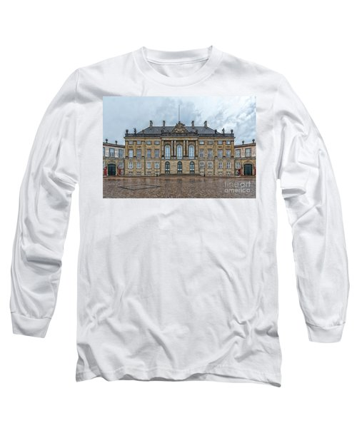 Long Sleeve T-Shirt featuring the photograph Copenhagen Amalienborg Palace by Antony McAulay
