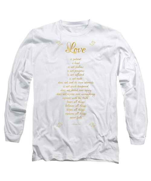 1 Corinthians 13 Love Is White Background Long Sleeve T-Shirt