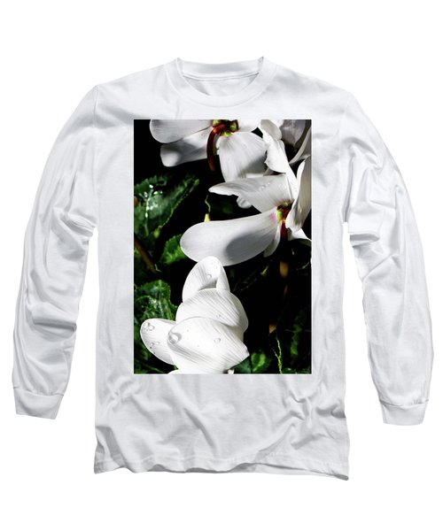 Long Sleeve T-Shirt featuring the photograph Cyclamen by Mindy Newman