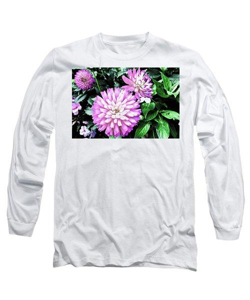 Dahlia Long Sleeve T-Shirt by Cesar Vieira