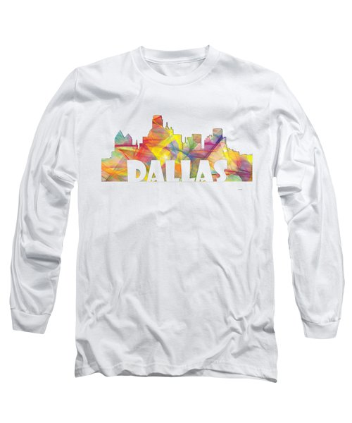 Dallas Texas Skyline Long Sleeve T-Shirt