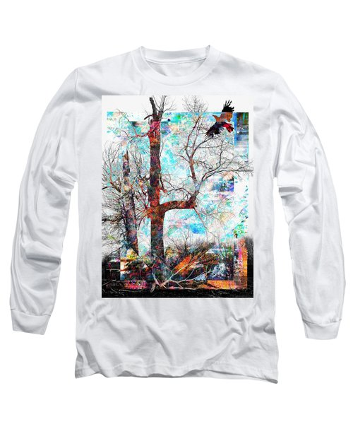 Dead Tree And Crow Long Sleeve T-Shirt