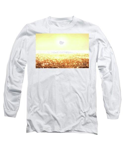 Rose Gold Diamonds Long Sleeve T-Shirt by Michael Rock