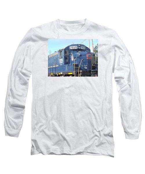 Diesel Engline Train Long Sleeve T-Shirt by Linda Geiger