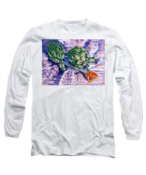 Edible Flowers Long Sleeve T-Shirt by Jan Bennicoff
