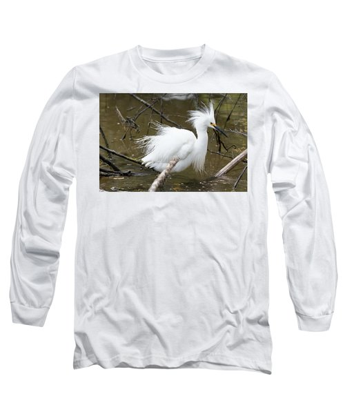 Egret Bath Long Sleeve T-Shirt