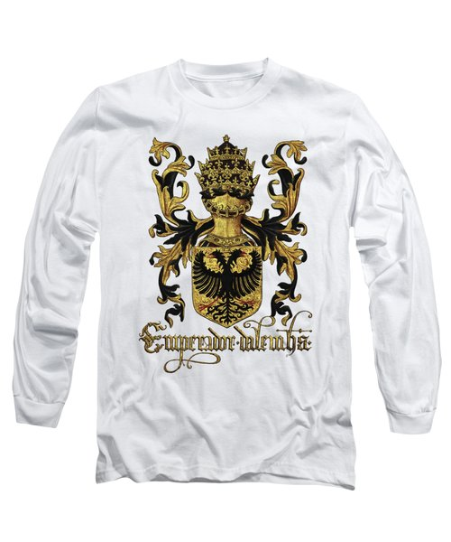 Emperor Of Germany Coat Of Arms - Livro Do Armeiro-mor Long Sleeve T-Shirt by Serge Averbukh