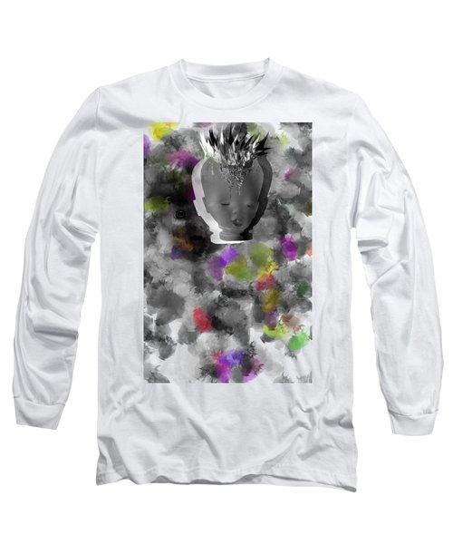 Exploding Head Long Sleeve T-Shirt by Michal Boubin