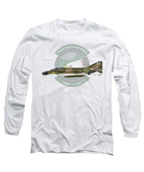 F-4d Phantom Long Sleeve T-Shirt by Arthur Eggers