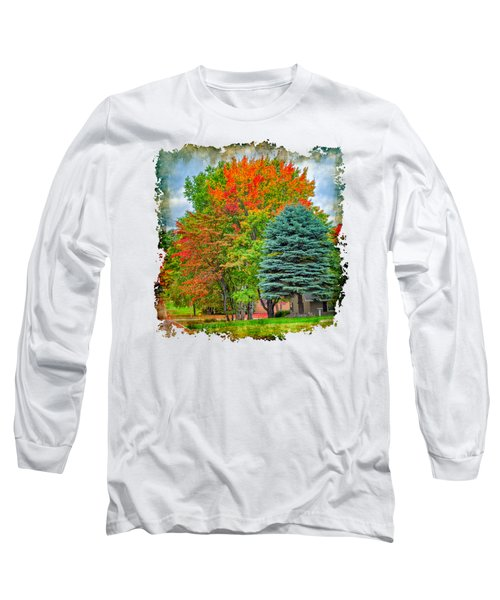 Fall Colors Long Sleeve T-Shirt by John M Bailey