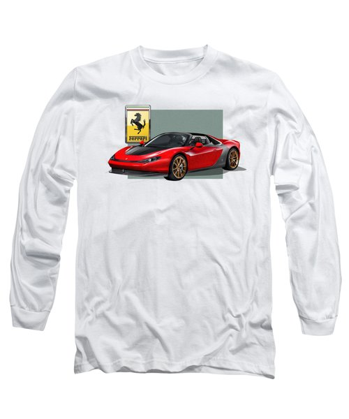 Ferrari Sergio With 3d Badge  Long Sleeve T-Shirt