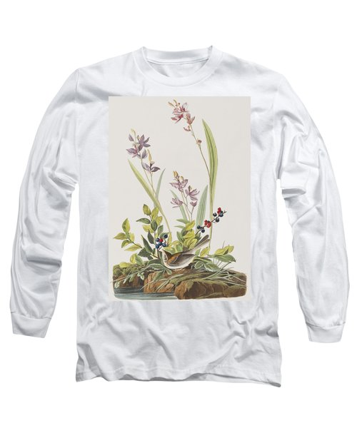 Field Sparrow Long Sleeve T-Shirt by John James Audubon