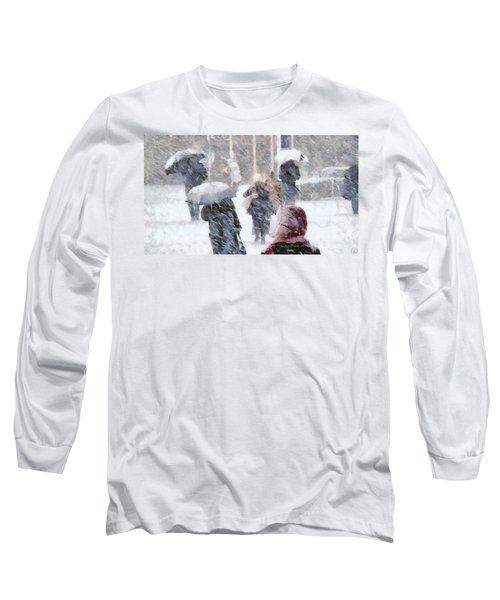 First Snow Long Sleeve T-Shirt by Gun Legler