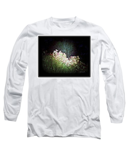 Flowers At Night Long Sleeve T-Shirt