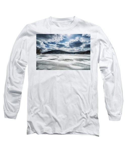 Frozen Lake Long Sleeve T-Shirt by Thomas R Fletcher