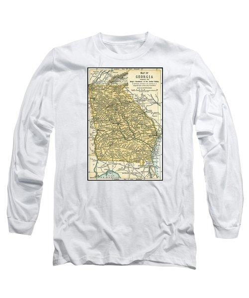 Georgia Antique Map 1891 Long Sleeve T-Shirt