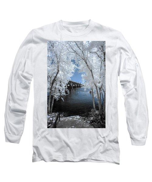 Gervais Street Bridge In Ir Long Sleeve T-Shirt by Charles Hite