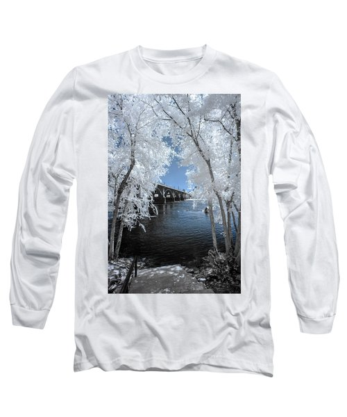 Gervais St. Bridge In Surreal Light Long Sleeve T-Shirt