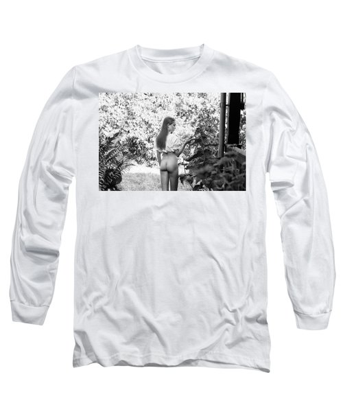 Girl In Swedish Garden Long Sleeve T-Shirt