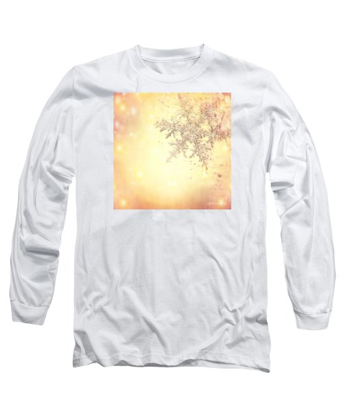 Golden Christmas Background Long Sleeve T-Shirt
