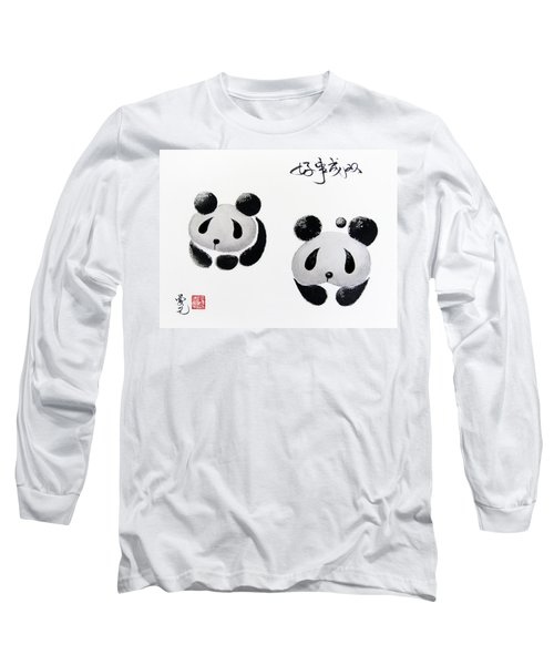 Good Things Come In Pairs Long Sleeve T-Shirt by Oiyee At Oystudio