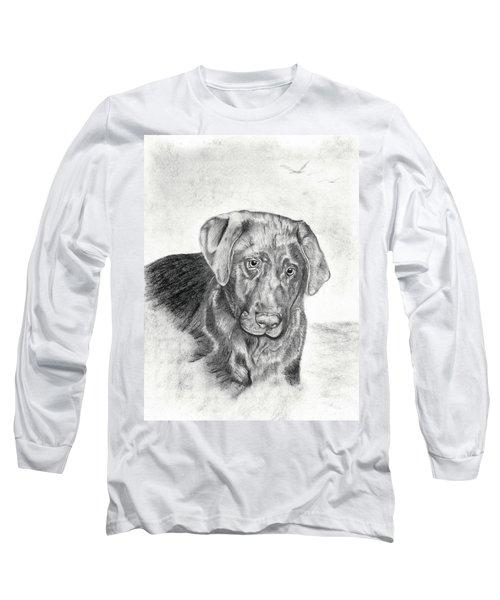 Long Sleeve T-Shirt featuring the drawing Gozar by Mayhem Mediums