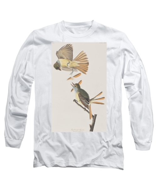 Great Crested Flycatcher Long Sleeve T-Shirt by John James Audubon