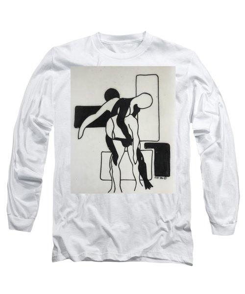 Gymnast Long Sleeve T-Shirt by Erika Chamberlin