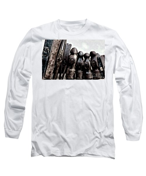 Long Sleeve T-Shirt featuring the photograph Hammer Heads  by Wilma Birdwell