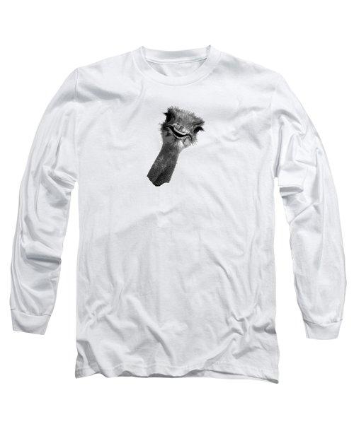 Happy Ostrich Long Sleeve T-Shirt