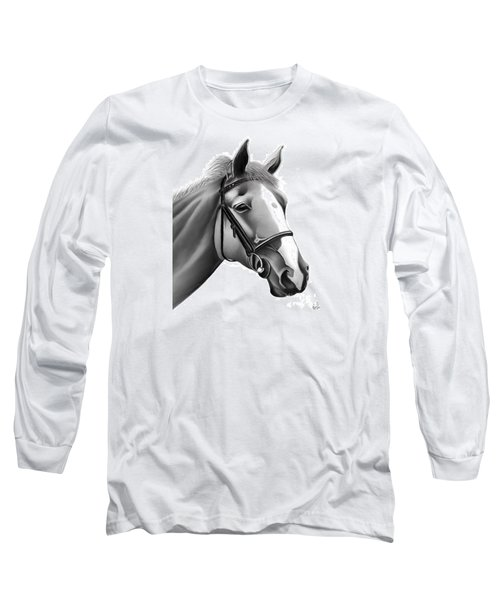 Long Sleeve T-Shirt featuring the painting Horse by Rand Herron