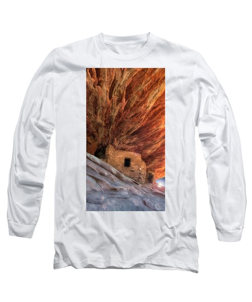 House On Fire Ruins Long Sleeve T-Shirt by Gary Warnimont
