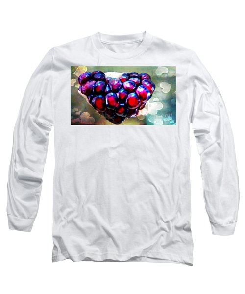 Long Sleeve T-Shirt featuring the painting I Heart You by Genevieve Esson