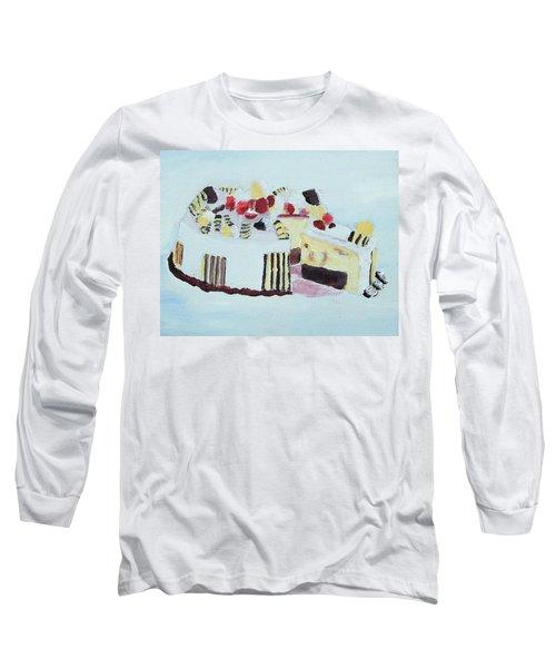 Ice Cream Cake Oil On Canvas Long Sleeve T-Shirt