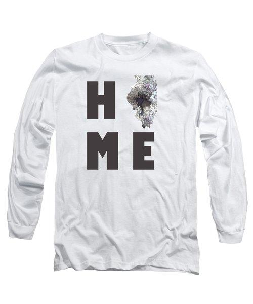 Illinois State Map Long Sleeve T-Shirt