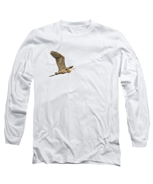 Long Sleeve T-Shirt featuring the photograph Isolated Great Blue Heron 2015-5 by Thomas Young
