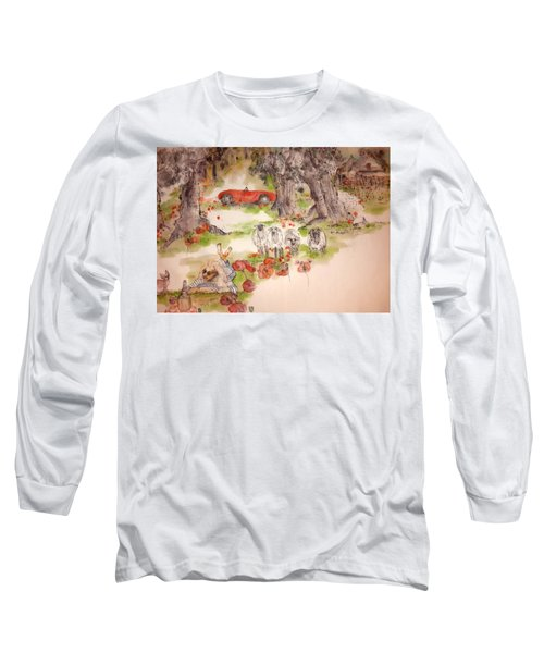 Italy Love Life And  Linguini Album Long Sleeve T-Shirt