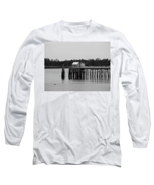 Long Sleeve T-Shirt featuring the photograph Jonesport, Maine by Trace Kittrell