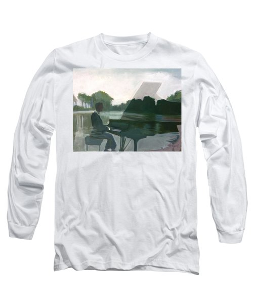 Justin Levitt Steinway Piano Spreckles Lake Long Sleeve T-Shirt