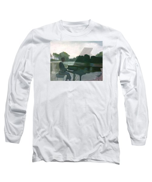 Justin Levitt Steinway Piano Spreckles Lake Long Sleeve T-Shirt