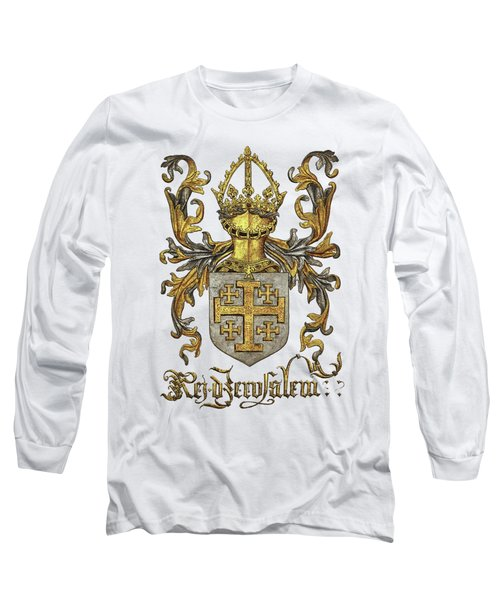 Kingdom Of Jerusalem Coat Of Arms - Livro Do Armeiro-mor Long Sleeve T-Shirt by Serge Averbukh